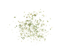 Scattered Dried Parsley On Whi...