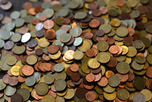 Big Heap Of Different Euro Cent Coins As Background
