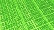 canvas print picture - binary code transaction computer data transmission internet technology digital bit money 3D illustration