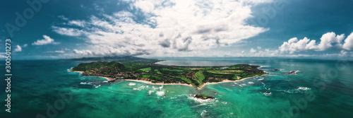 Foto auf AluDibond Blau türkis Punta Mita