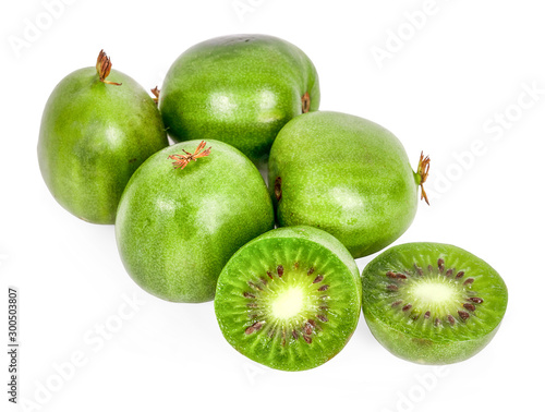 Kiwi berry isolated on white background Wallpaper Mural