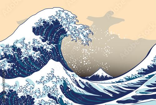 ポストカード 葉書 日本 波