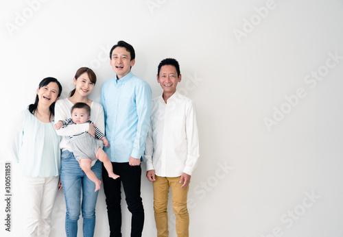 Fotografia, Obraz  赤ちゃんと家族団らん