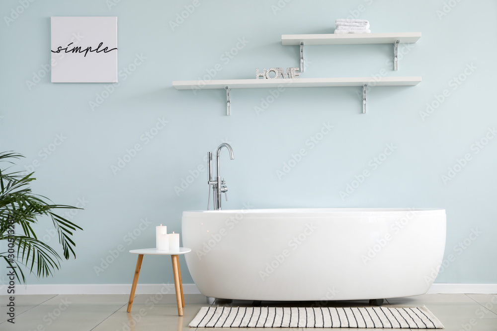 Fototapeta Stylish interior of modern bathroom