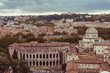Overview on Rome from the monument to Victor Emmanuel II