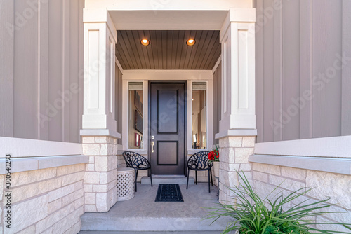 Obraz Path leading to front door of a residential house - fototapety do salonu