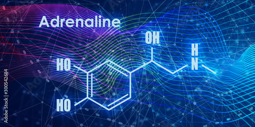Photo Chemical molecular formula hormone adrenaline