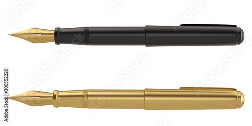 Fotografía  Pen 3D rendering Isolated on white background. 3d illustration