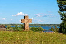 Wayside Cross. Tver Region, Russia. On The Way From Varangians To Greeks