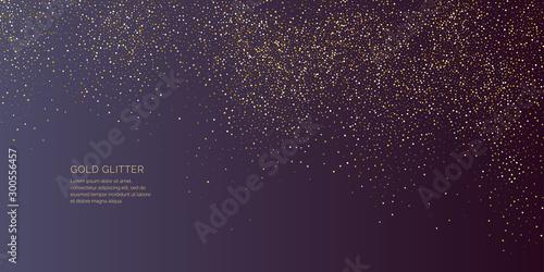 Obraz na plátně Bright vector illustration Magic rain of sparkling glittery particles lines