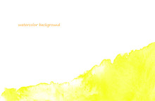 水彩ベクター 黄色