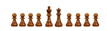 Pawns Team With It´s King And Queen