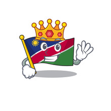 King Flag Namibia Isolated The...