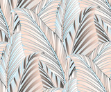 graphic leaves exotic cream silver