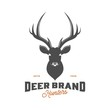 vintage deer head logo, icon and template