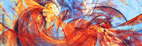 Obrazy reprodukcje  red-and-blue-artistic-wave-abstract-motion-composition-bright-color-painting-background