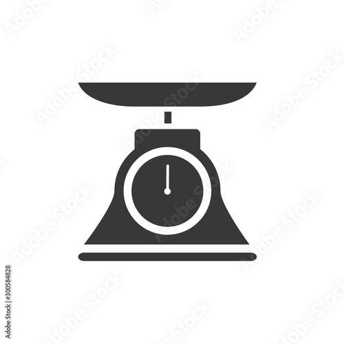 Obraz Commercial weight scale icon for stores and pharmacies. Vector illustration - fototapety do salonu