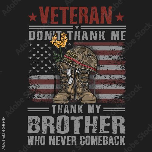 Fotografía american veteran boots army illustration vector