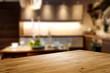 Leinwandbild Motiv Desk of free space and kitchen interior