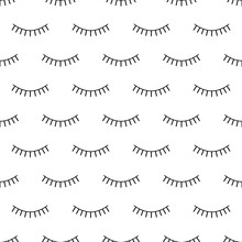 Abstract Seamless Eyes Pattern...
