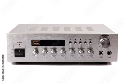 Audio amplifiers signal control mic Canvas Print