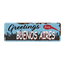 Buenos Aires Argentina Retro G...
