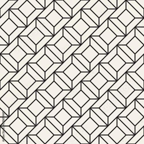 Fototapeta kratka  vector-seamless-geometric-pattern-simple-abstract-lines-lattice-repeating-elements-stylish