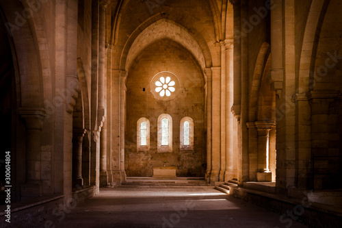 Inside deserted Abbey Fototapeta