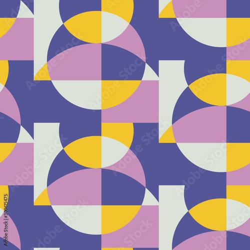 Mid century retro geometric seamless pattern Canvas Print