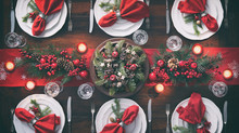 Christmas Holidays Table Setting Concept