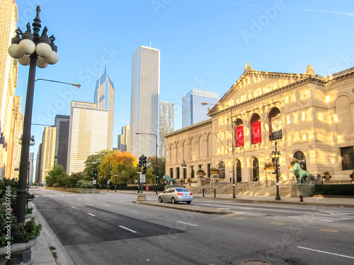 Vászonkép Institute of Arts, Chicago is the city of skyscrapers