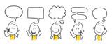 Figurki / rysunki: komunikacja, dymki. (Nr 450)