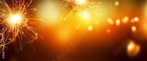 Photo Fiery new years background
