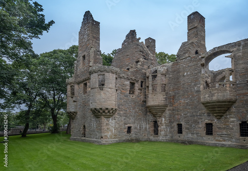 Stampa su Tela Ruins of the Bishop's and Earl's Palaces, Kirkwall, Mainland, Orkney Islands, Sc
