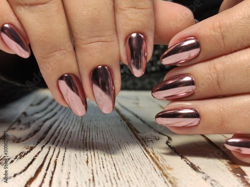 Aluminium Prints Manicure Fashionable design of manicure on beautiful pens