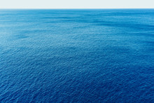 Blue Sea Surface With Waves Ae...