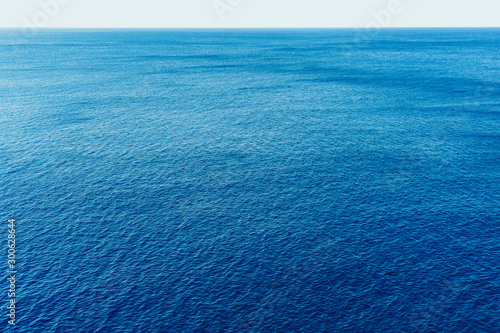 Obraz Blue sea surface with waves aerial view - fototapety do salonu