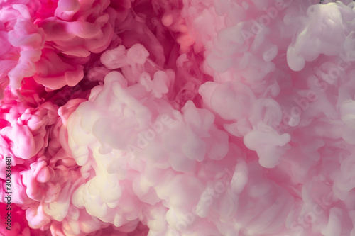 Autocollant pour porte Macro photographie Pink Abstract acrylic drop in water
