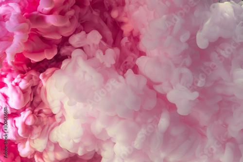 Fond de hotte en verre imprimé Macro photographie Pink Abstract acrylic drop in water