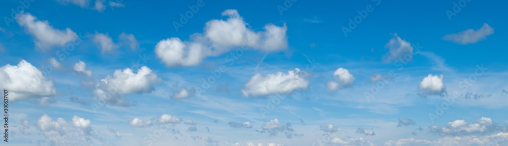 Fototapety, obrazy: Blue sky with clouds (wide background panorama).