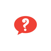 Question Red Icon On White Bac...