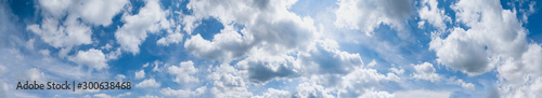 Obraz Blue sky with clouds (wide background panorama). - fototapety do salonu