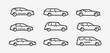 Cars icon set. Transport, transportation symbol in linear style. Vector