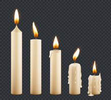 Burning Candle. Stages Combust...