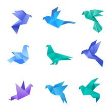 Origami Dove. Pigeon Birds Fro...