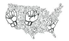Sign Language ASL Country USA