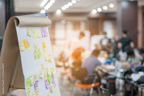 Valokuvatapetti Business people meeting at office and use post it notes to share idea