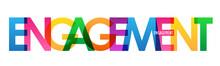 ENGAGEMENT Rainbow Vector Typography Banner