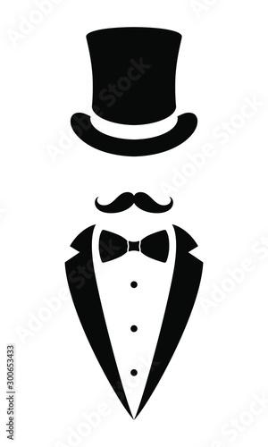Foto Gentleman graphic icon