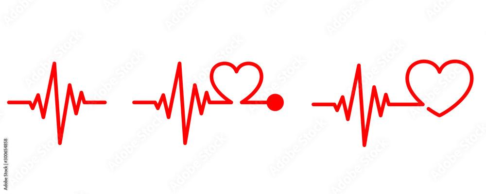 Fototapeta Heartbeat icon - vector.